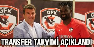 Transfer takvimi açıklandı