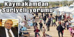 Kaymakamdan Suriyeli yorumu