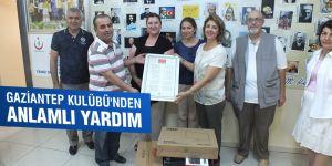 Gaziantep Kulübü'nden anlamlı yardım