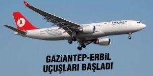Gaziantep-Erbil uçuşları başladı