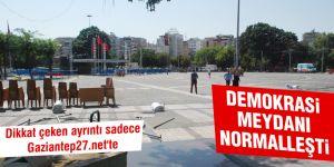 Demokrasi Meydanı normalleşti