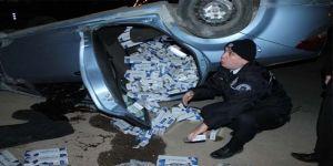 Polisten kaçmak isterken kaza yaptı