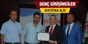GENÇ GİRİŞİMCİLER SERTİFİKA ALDI