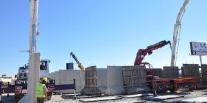 Suriye sınırına beton stoğu