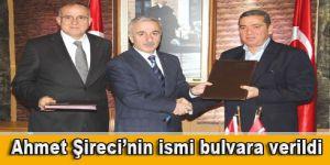 Ahmet Şireci'nin ismi bulvara verildi