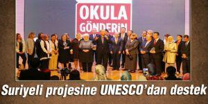 Suriyeli projesine UNESCO'dan destek