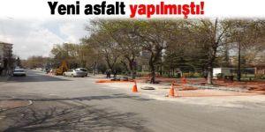 Yeni asfalt yapılmıştı