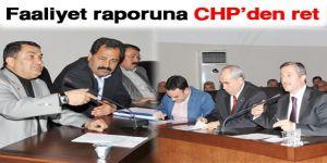Faaliyet raporuna CHP'den ret