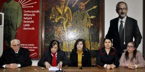 CHP'li kadınlardan tepki