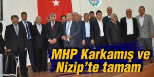 MHP Karkamış ve Nizip'te tamam