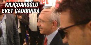 CHP lideri Kılıçdaroğlu, 'evet' çadırını ziyaret etti