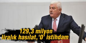 129,3 milyon liralık hasılat, '0' istihdam
