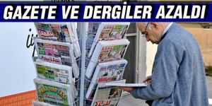 Gazete ve dergiler azaldı