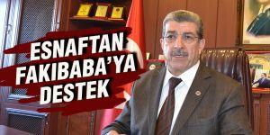Esnaftan Fakıbaba'ya destek