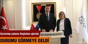 Gaziantep yabancı Başbakan ağırladı