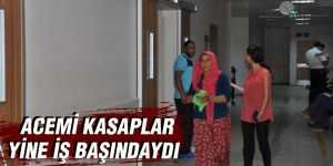 Gaziantep'te, acemi kasaplar kendilerini yaraladı