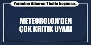 Meteoroloji uyardı