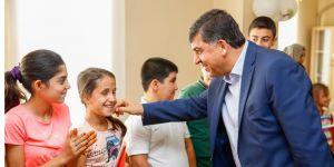 Başkan çocuklarla buluştu