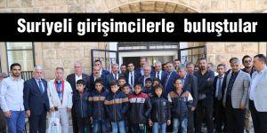 Suriyeli girişimcilerle  buluştular