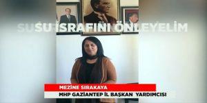 MHP'li kadınlardan israf klibi