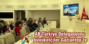 AB Türkiye Delegasyonu büyükelçiler Gaziantep'te