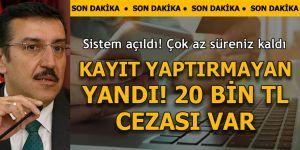 Bakan Tüfenkci: ETBİS hizmete açıldı