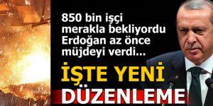 Erdoğan 'taşeronlar ortadan kalkıyor' dedi