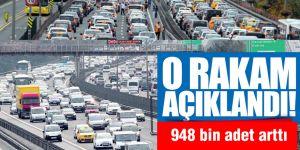 Trafikteki araç sayısı Ocak-Ekim döneminde 948 bin adet arttı