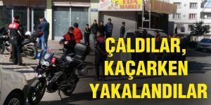 Hırsızlar ile polis arasında kovalamaca