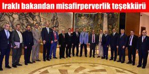 Iraklı bakandan misafirperverlik teşekkürü