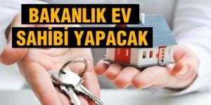 Bakanlık, 301 ihtiyaç sahibi aileye ev yapacak