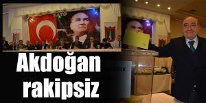 Akdoğan rakipsiz