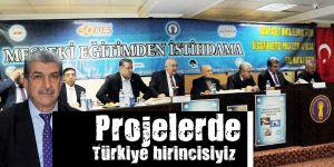 Projelerde Türkiye birincisiyiz