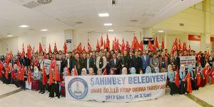 Öğrenciler Umre'ye uğurlandı