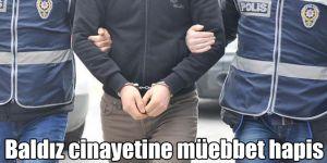 Baldız cinayetine müebbet hapis
