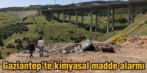 Gaziantep'te kimyasal madde alarmı