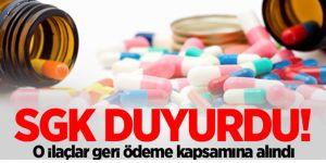 SGK duyurdu: O ilaçlar artık...