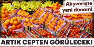 Meyve-sebze alışverişinde yeni dönem