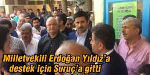 Milletvekili Erdoğan Yıldız'a destek için Suruç'a gitti