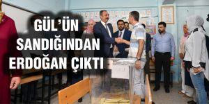 """Gül'ün oy kullandığı sandık """"Erdoğan"""" dedi"""
