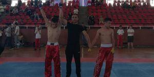 Kick bokscular yarıştı