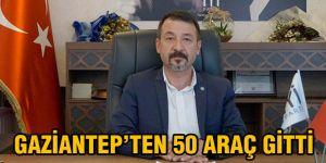 Gaziantep'ten 50 araç gitti