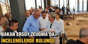 Bakan Ersoy, Zeugma'da incelemelerde bulundu