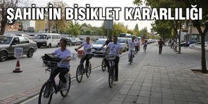Şahin'in bisiklet kararlılığı