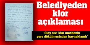 Şahinbey Belediyesinden klor açıklaması