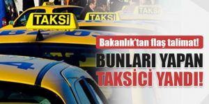 taksicilerle ilgili flaş talimat!