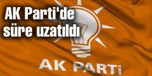 AK Parti'de o süre 16 Kasım'a uzatıldı