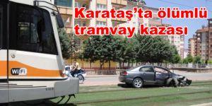 Otomobil tramvay hattına girdi 1 Ölü,1 Yaralı