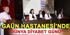 """Gaün hastanesi'nde """"dünya diyabet günü"""" etkinlikleri"""