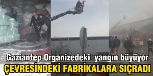Gaziantep Organizedeki  yangın büyüyor
